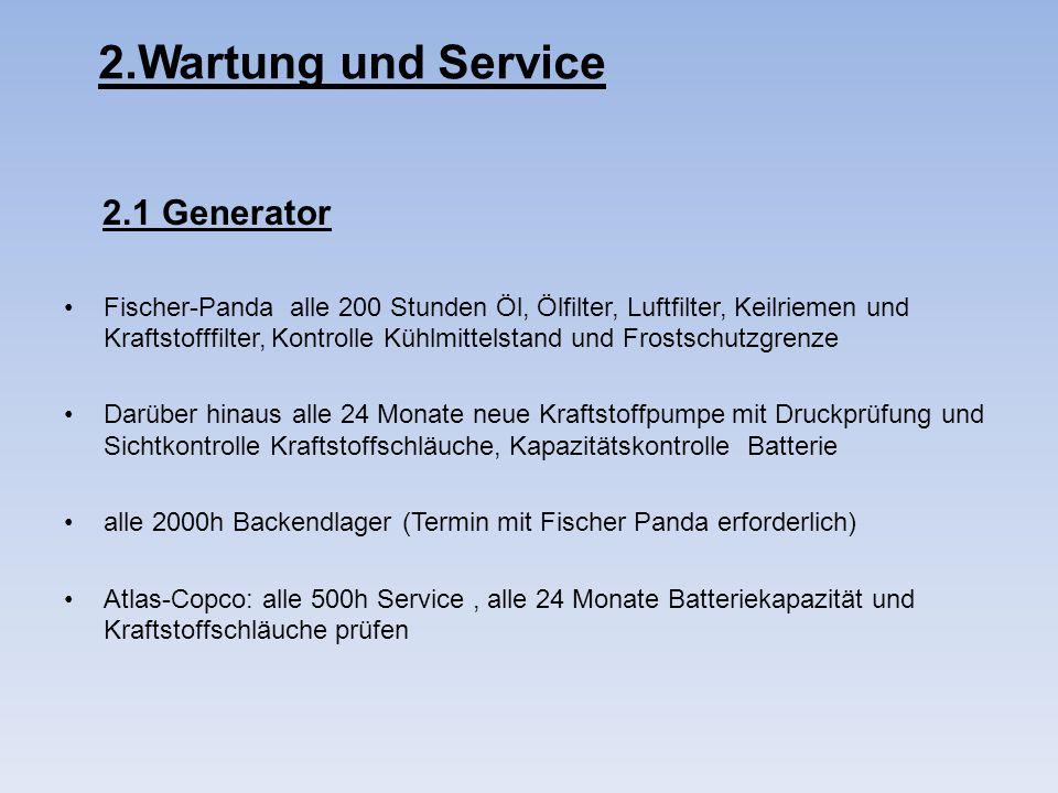 2.Wartung und Service 2.1 Generator