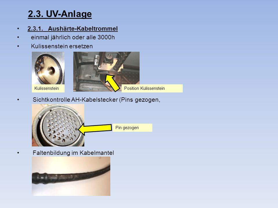 2.3. UV-Anlage 2.3.1. Aushärte-Kabeltrommel