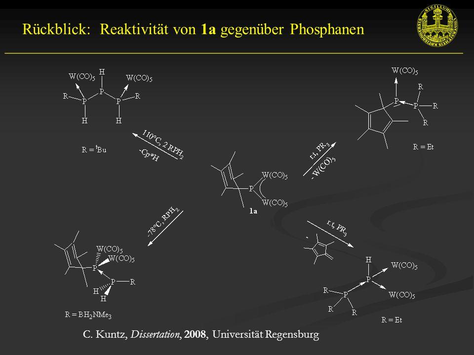 Rückblick: Reaktivität von 1a gegenüber Phosphanen