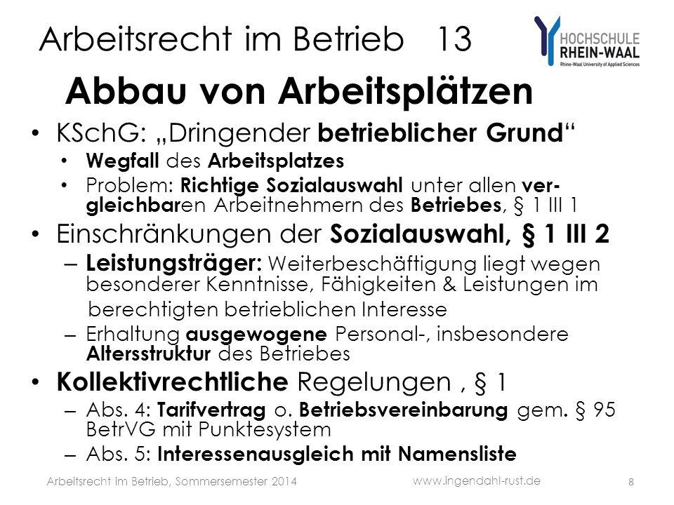 Arbeitsrecht im Betrieb 13