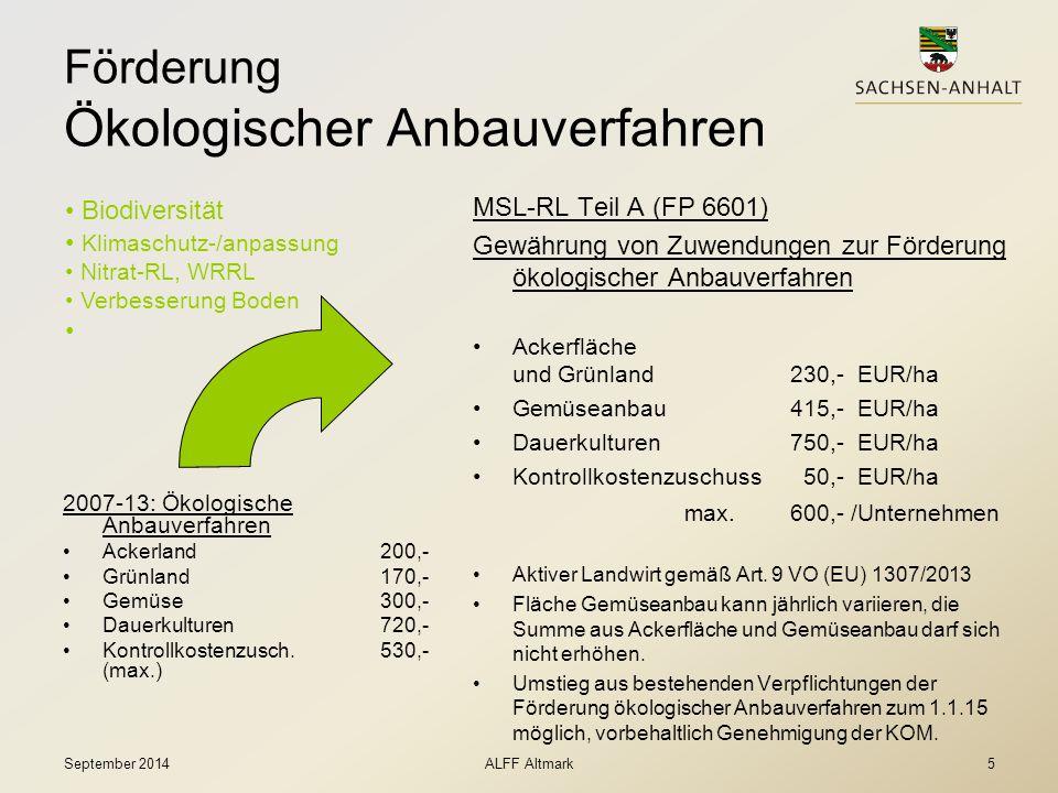 Förderung Ökologischer Anbauverfahren