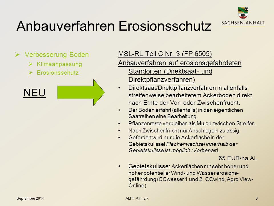 Anbauverfahren Erosionsschutz