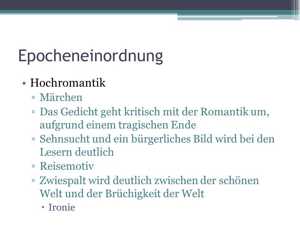 Epocheneinordnung Hochromantik Märchen