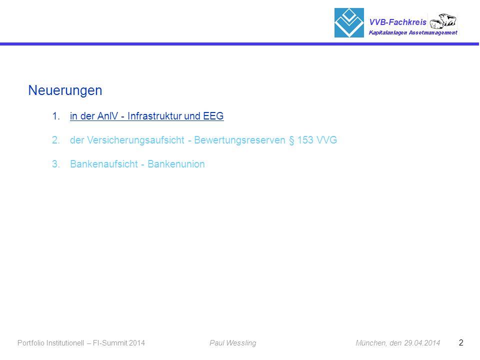 Neuerungen in der AnlV - Infrastruktur und EEG