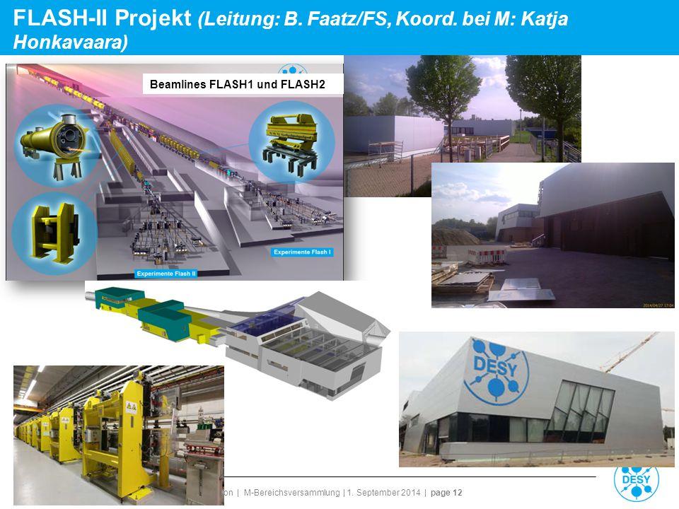 FLASH-II Projekt (Leitung: B. Faatz/FS, Koord. bei M: Katja Honkavaara)