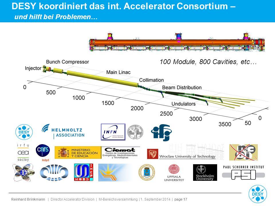 DESY koordiniert das int. Accelerator Consortium –