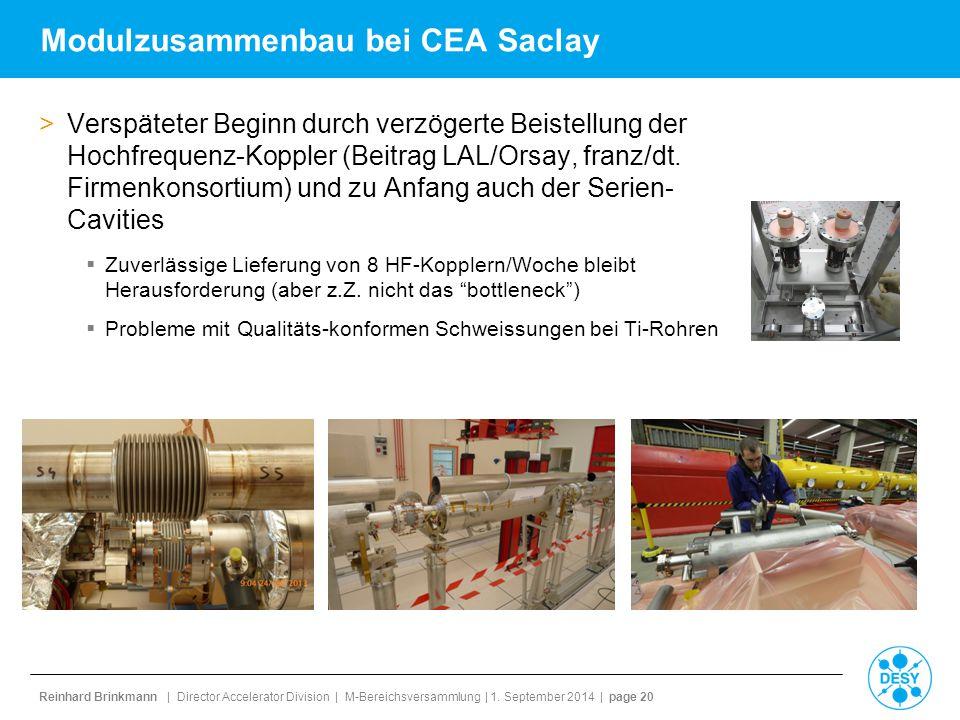 Modulzusammenbau bei CEA Saclay