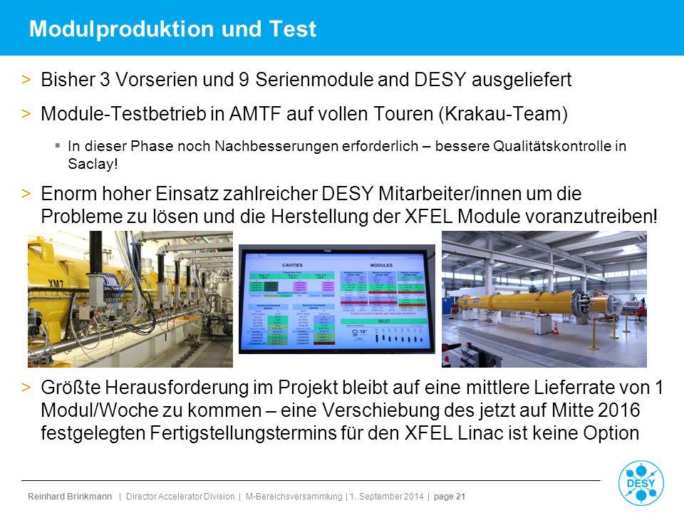 Modulproduktion und Test