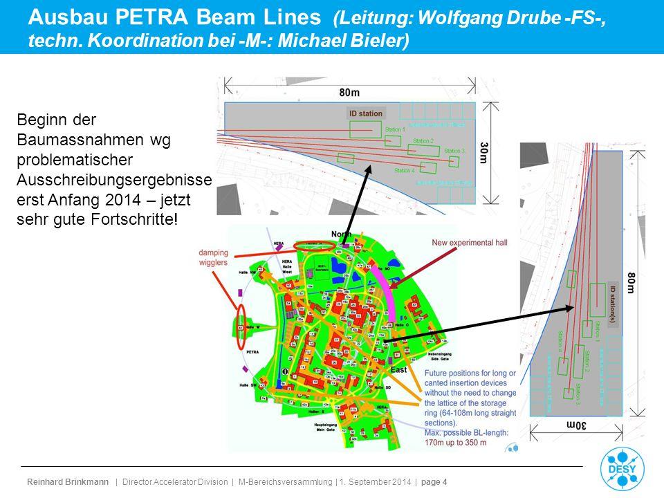Ausbau PETRA Beam Lines (Leitung: Wolfgang Drube -FS-, techn