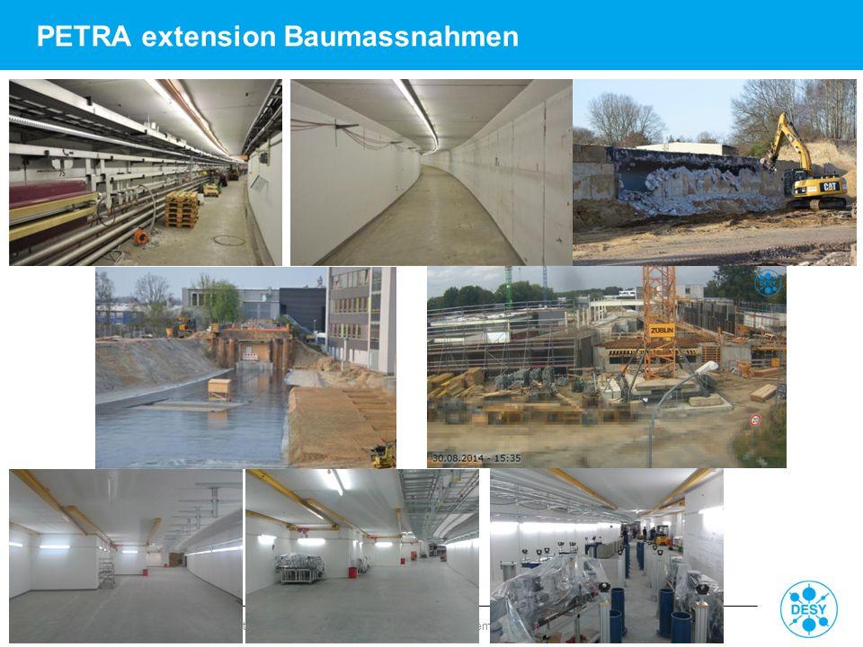 PETRA extension Baumassnahmen