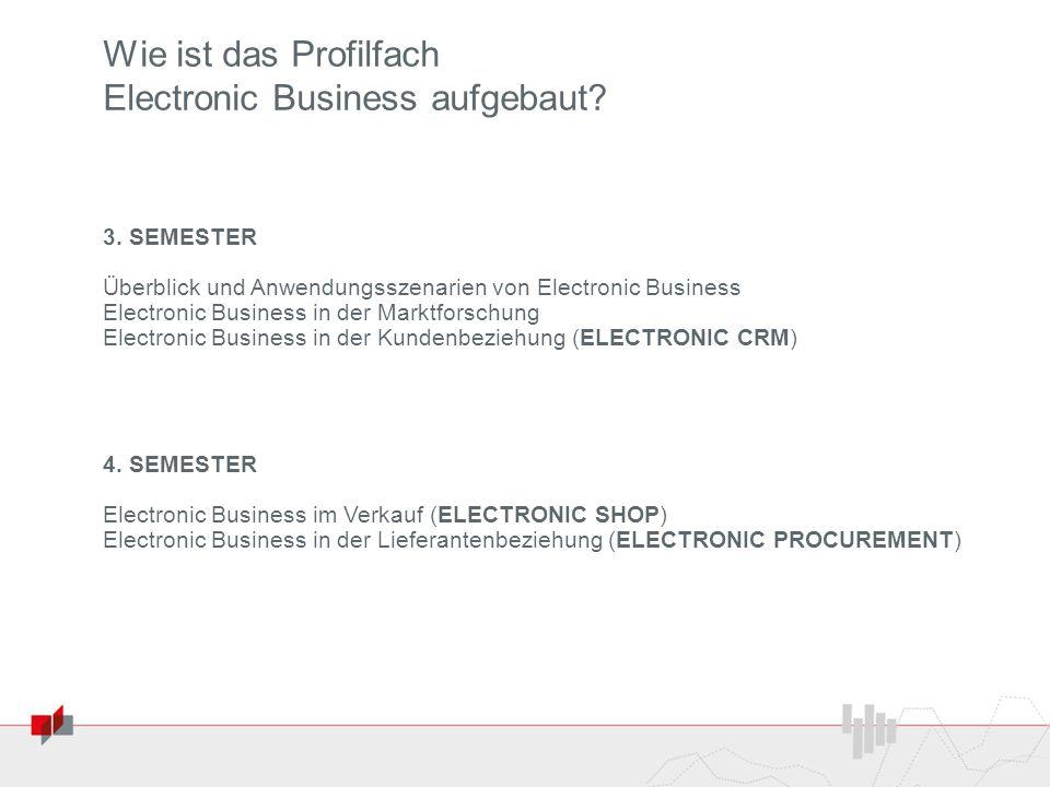 Wie ist das Profilfach Electronic Business aufgebaut