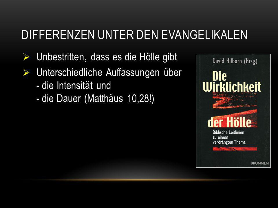 Differenzen unter den Evangelikalen