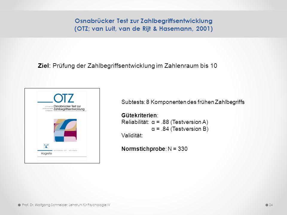 Ziel: Prüfung der Zahlbegriffsentwicklung im Zahlenraum bis 10