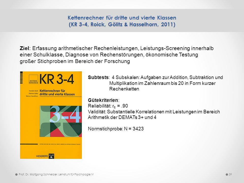 Kettenrechner für dritte und vierte Klassen (KR 3-4, Roick, Gölitz & Hasselhorn, 2011)