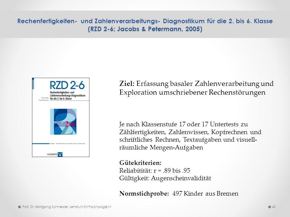Rechenfertigkeiten- und Zahlenverarbeitungs- Diagnostikum für die 2