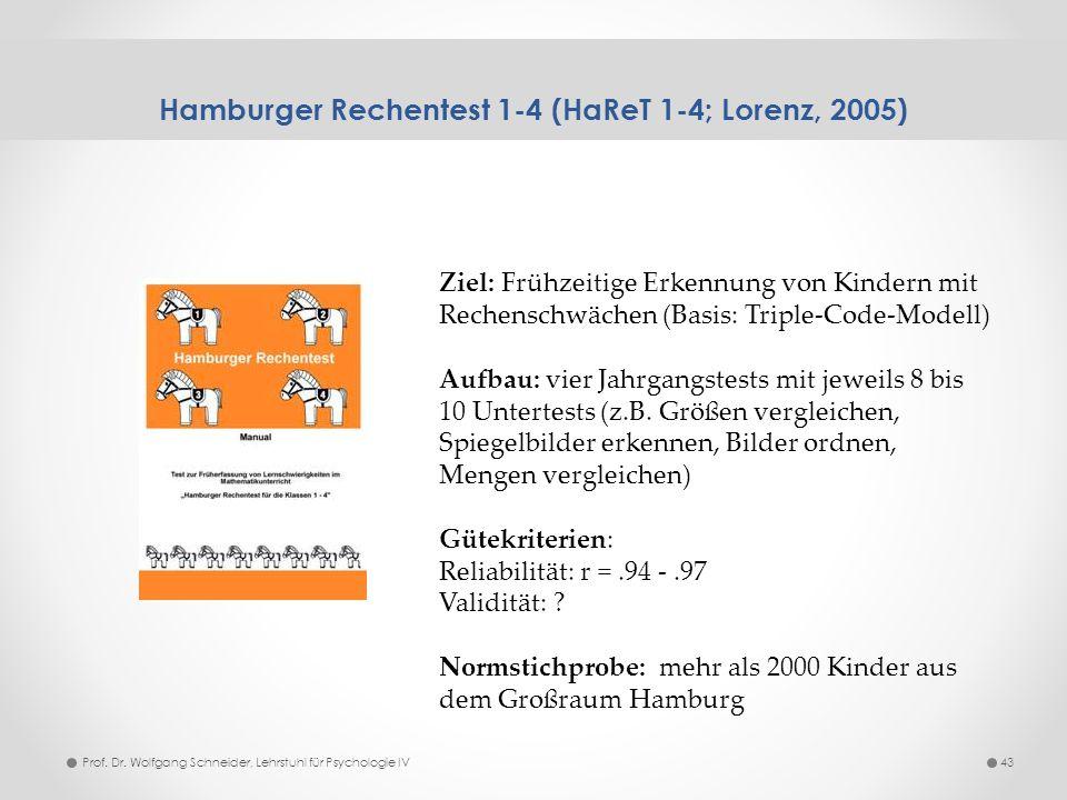 Hamburger Rechentest 1-4 (HaReT 1-4; Lorenz, 2005)