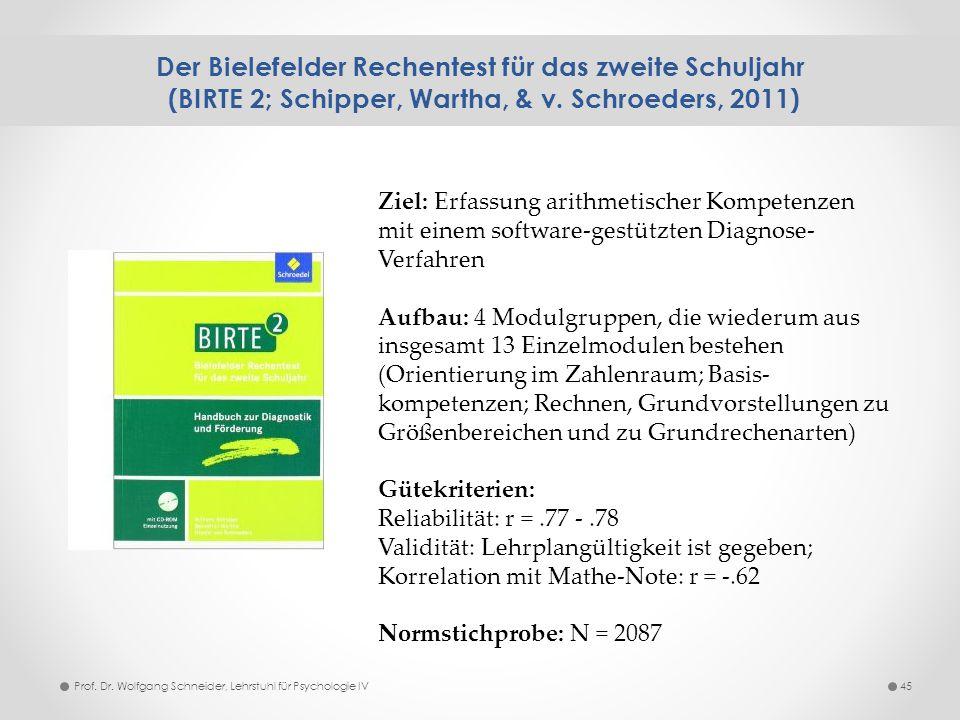 Der Bielefelder Rechentest für das zweite Schuljahr (BIRTE 2; Schipper, Wartha, & v. Schroeders, 2011)