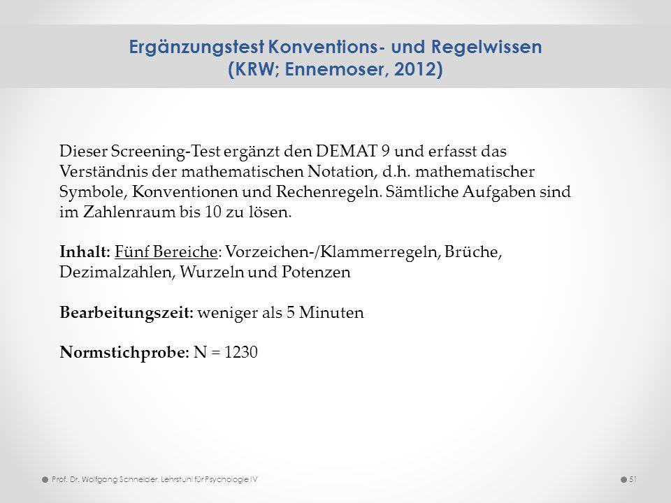 Ergänzungstest Konventions- und Regelwissen (KRW; Ennemoser, 2012)