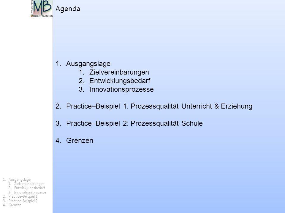 Practice–Beispiel 1: Prozessqualität Unterricht & Erziehung