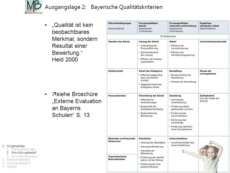 Ausgangslage 2: Bayerische Qualitätskriterien