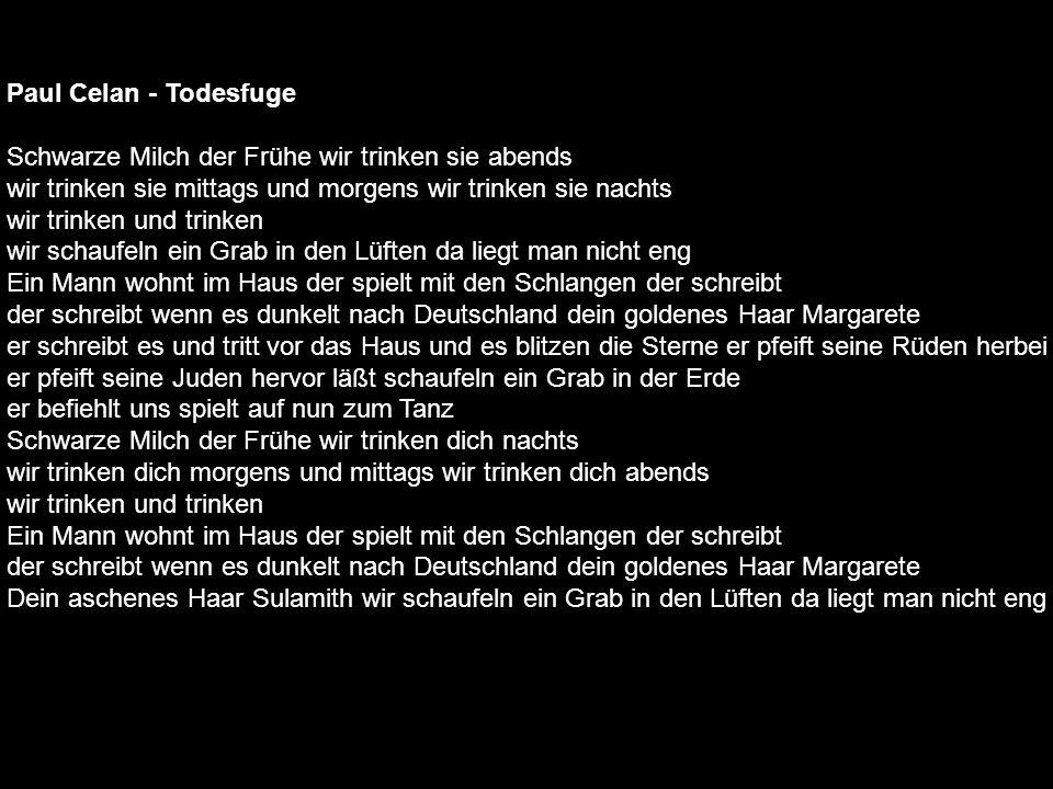 Paul Celan - Todesfuge