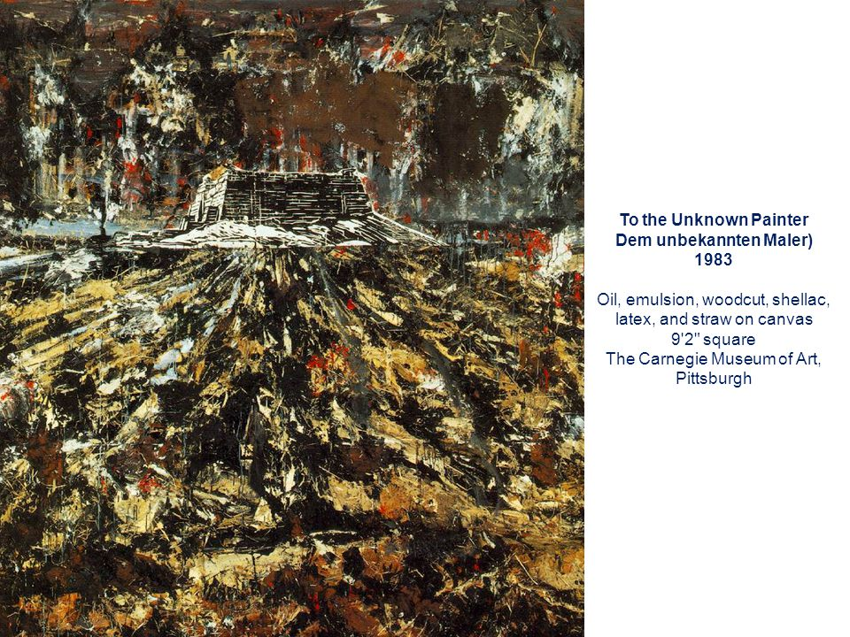 Dem unbekannten Maler) 1983