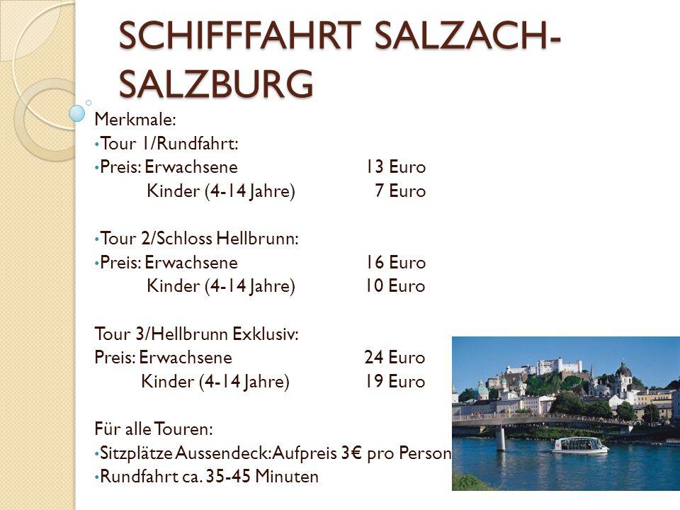 SCHIFFFAHRT SALZACH-SALZBURG