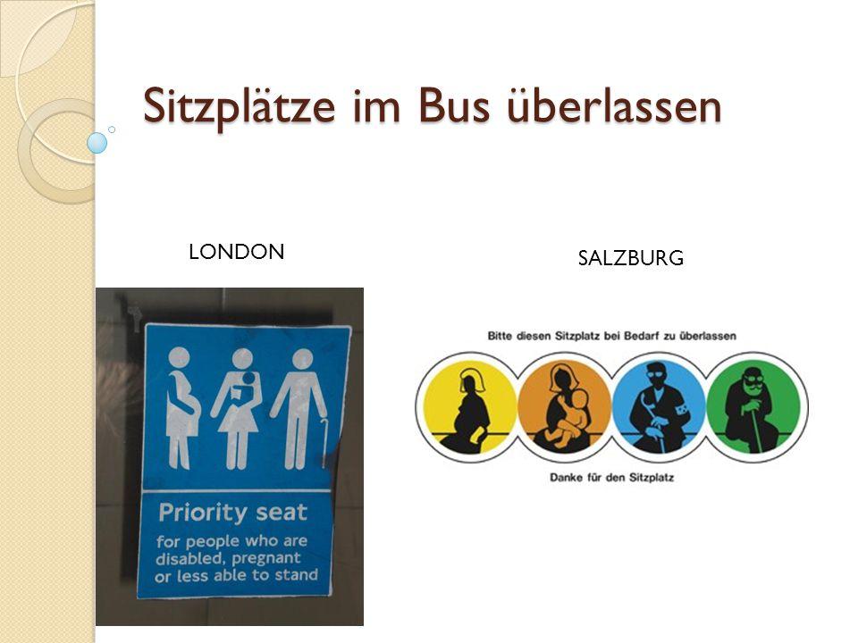 Sitzplätze im Bus überlassen