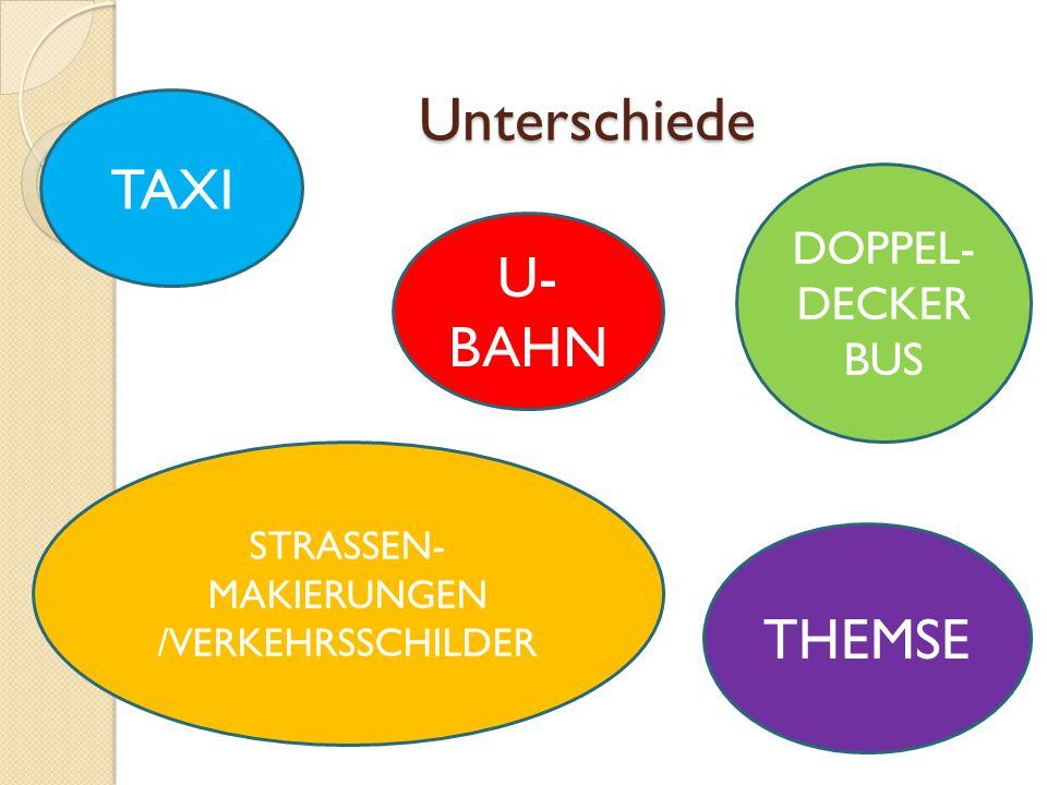 STRASSEN-MAKIERUNGEN /VERKEHRSSCHILDER