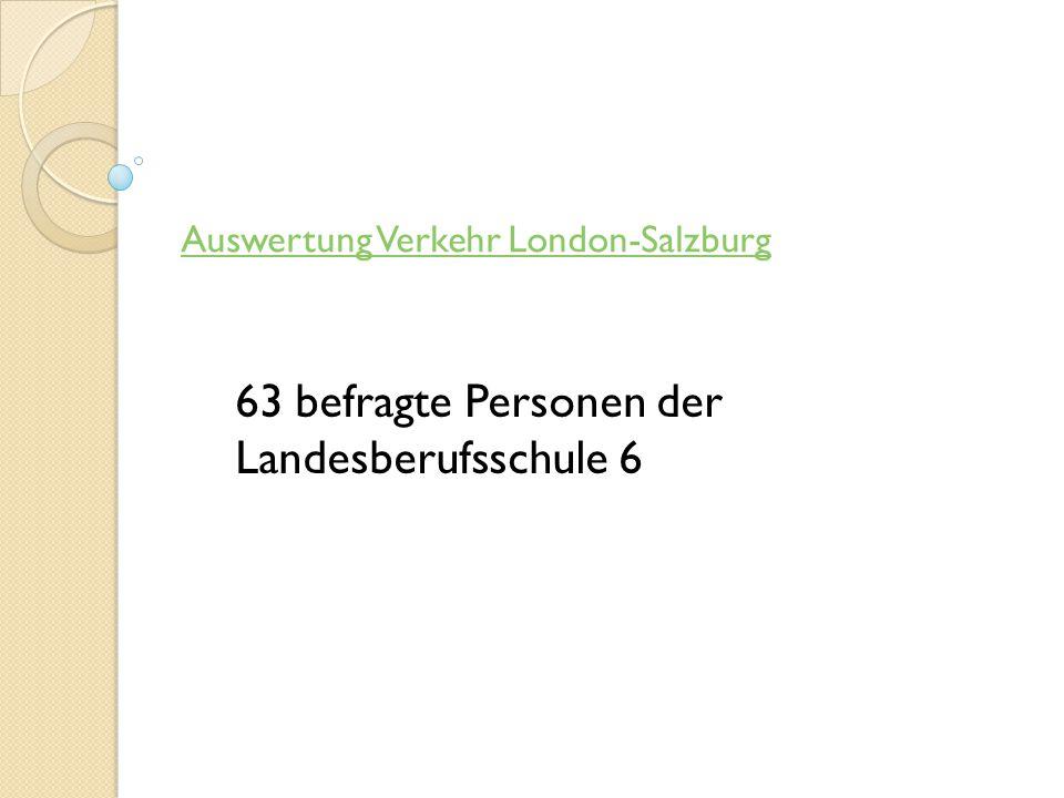 Auswertung Verkehr London-Salzburg