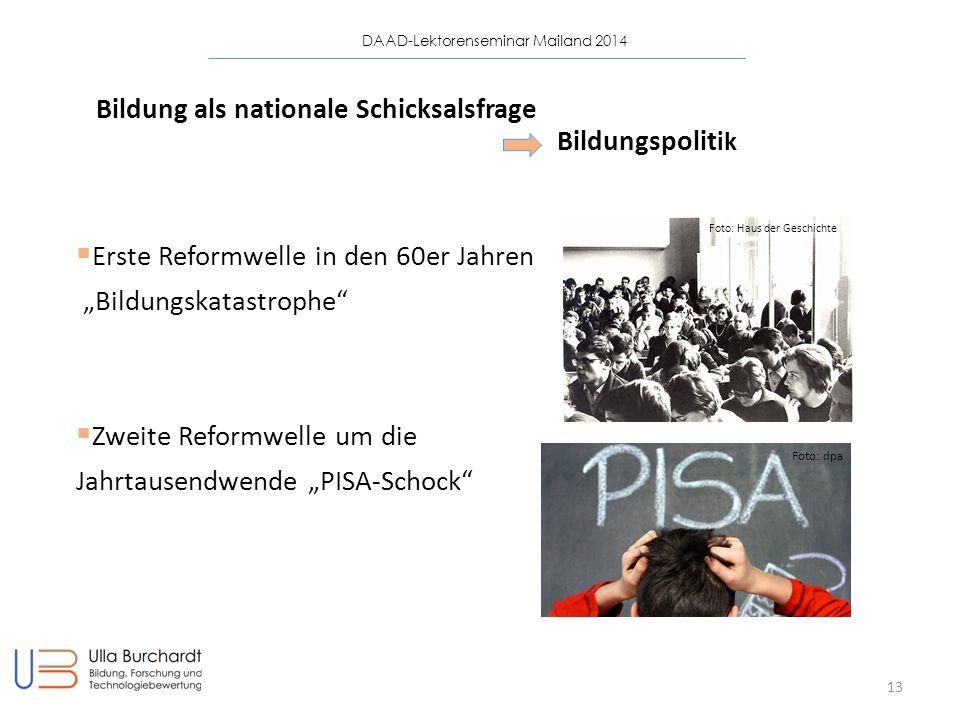 Bildung als nationale Schicksalsfrage Bildungspolitik