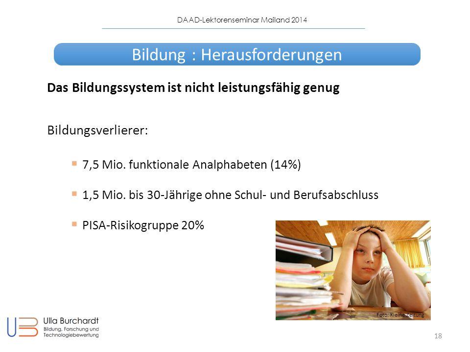 Bildung : Herausforderungen