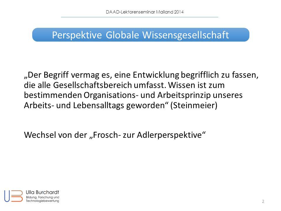 Perspektive Globale Wissensgesellschaft