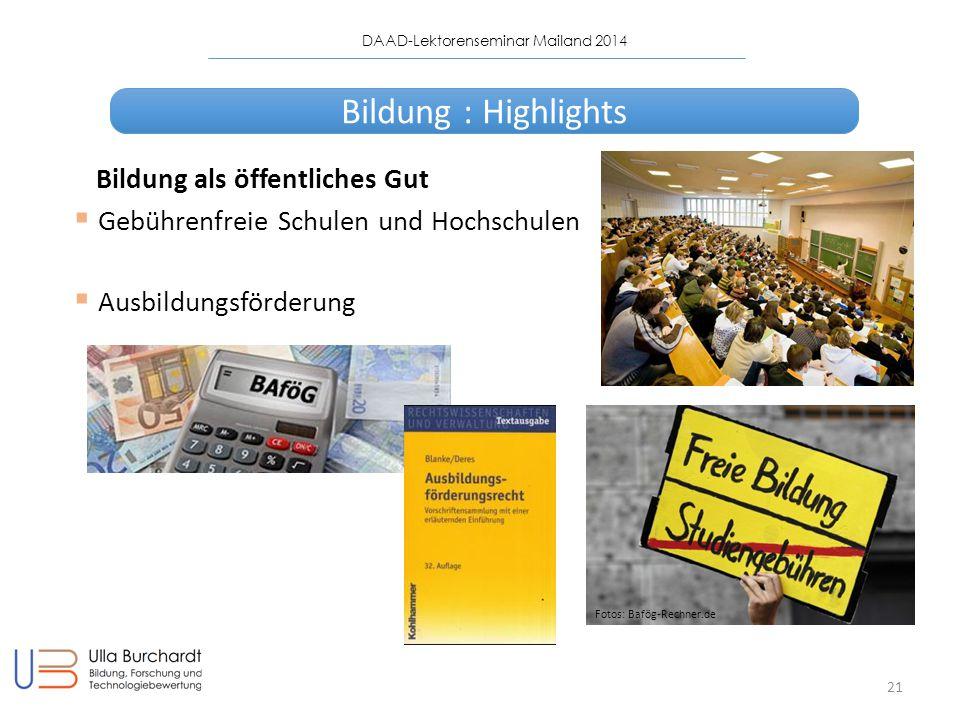 Bildung : Highlights Bildung als öffentliches Gut