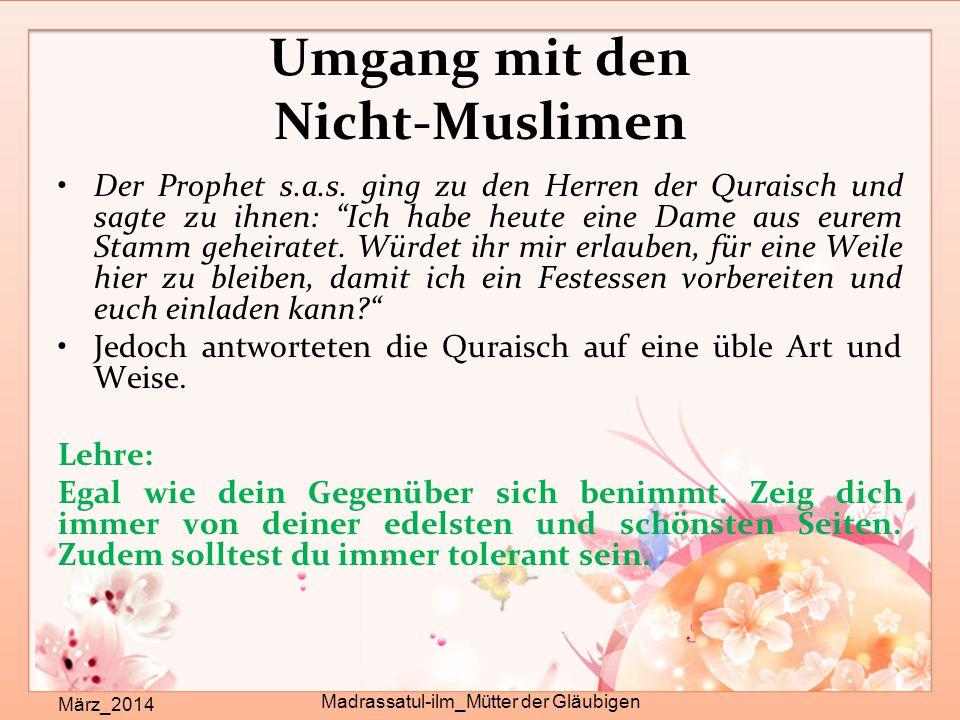 Umgang mit den Nicht-Muslimen