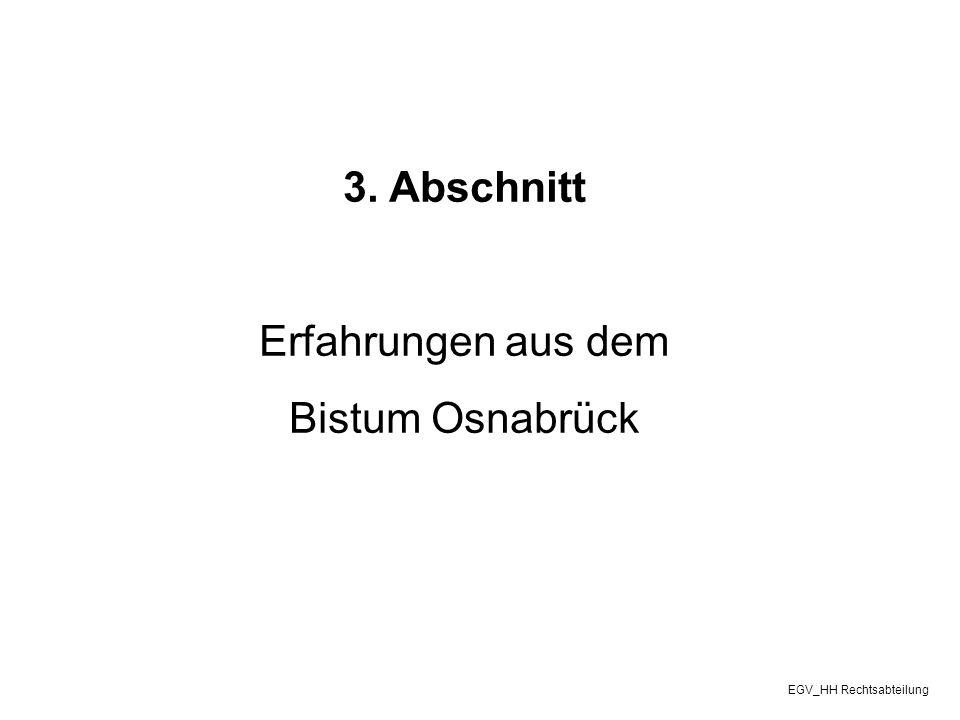 3. Abschnitt Erfahrungen aus dem Bistum Osnabrück