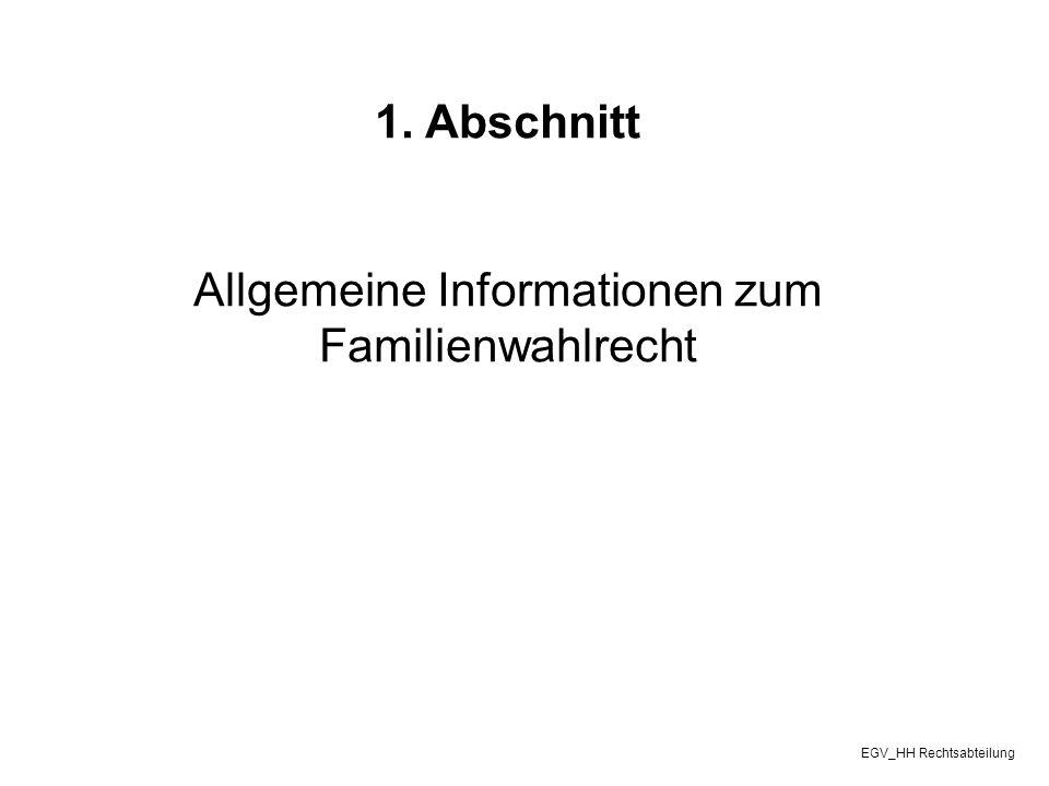 Allgemeine Informationen zum Familienwahlrecht