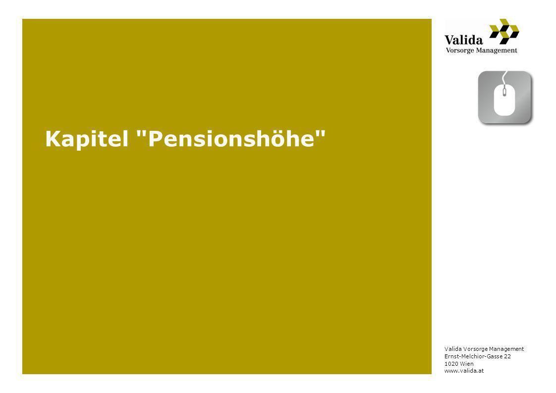 Kapitel Pensionshöhe