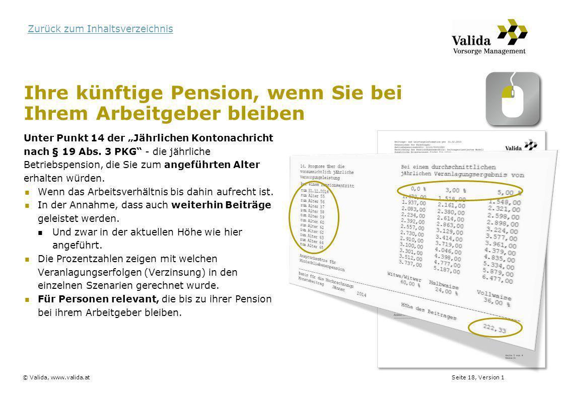 Ihre künftige Pension, wenn Sie bei Ihrem Arbeitgeber bleiben