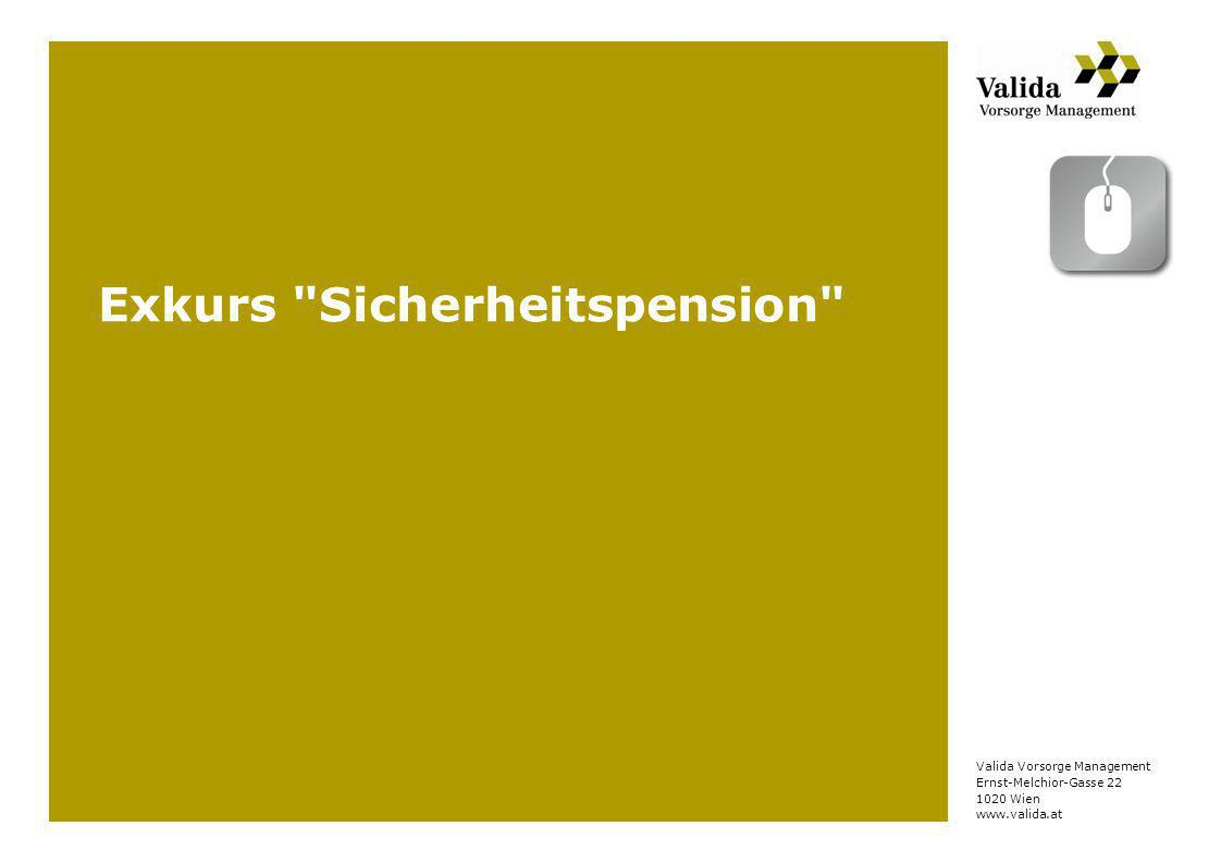 Exkurs Sicherheitspension