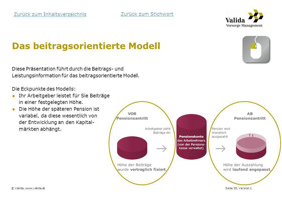 Das beitragsorientierte Modell