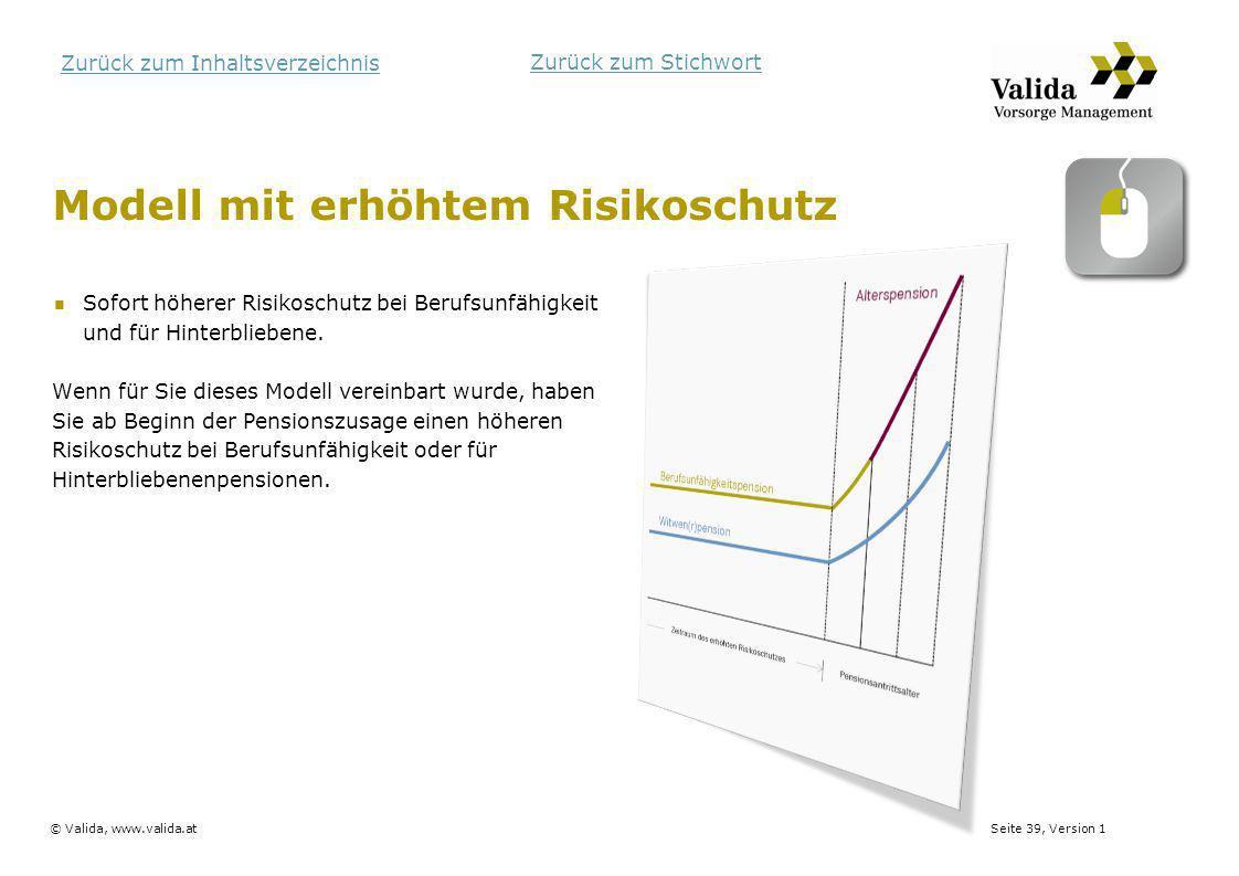 Modell mit erhöhtem Risikoschutz