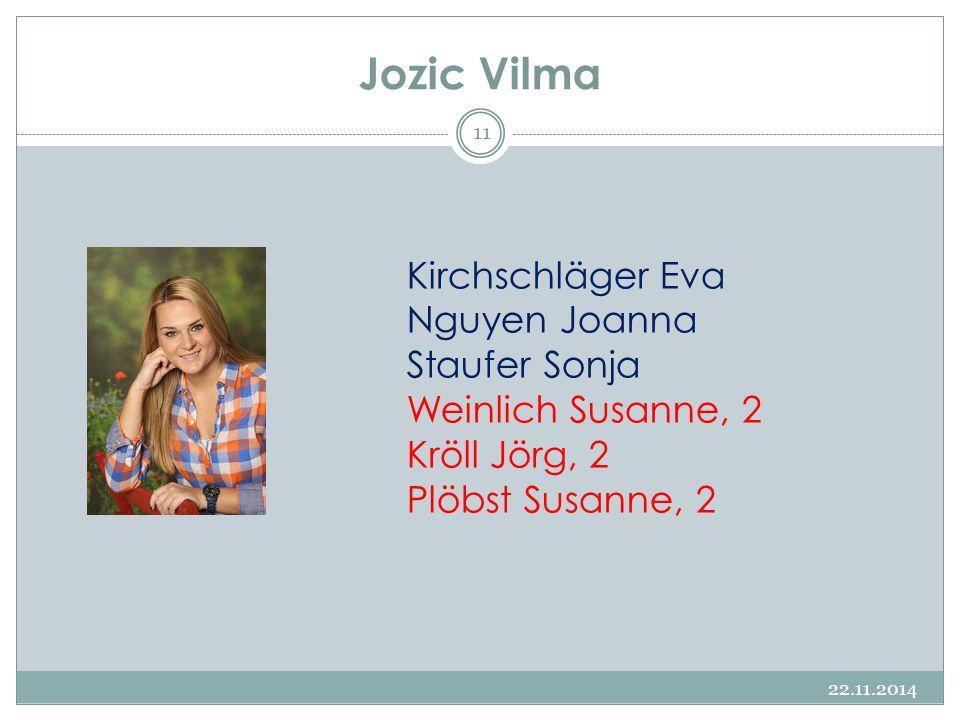 Jozic Vilma Kirchschläger Eva Nguyen Joanna Staufer Sonja