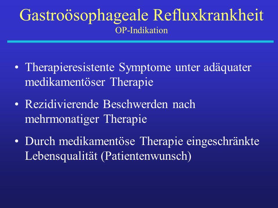 Gastroösophageale Refluxkrankheit OP-Indikation