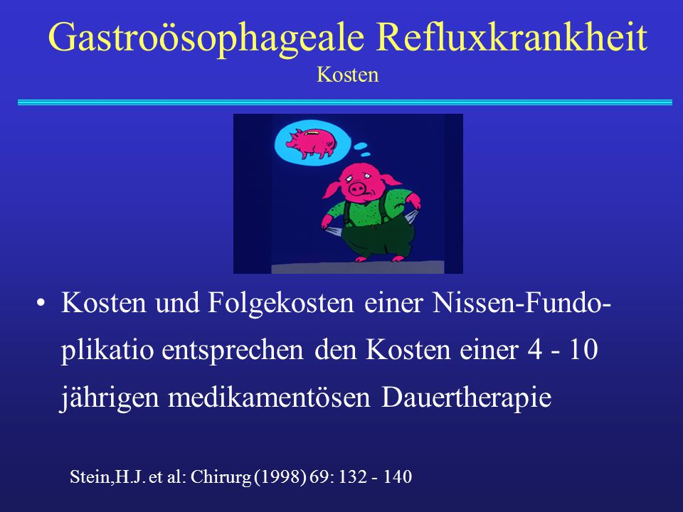 Gastroösophageale Refluxkrankheit Kosten