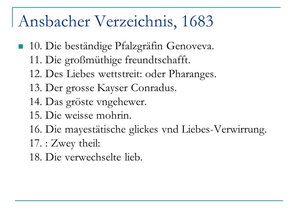 Ansbacher Verzeichnis, 1683