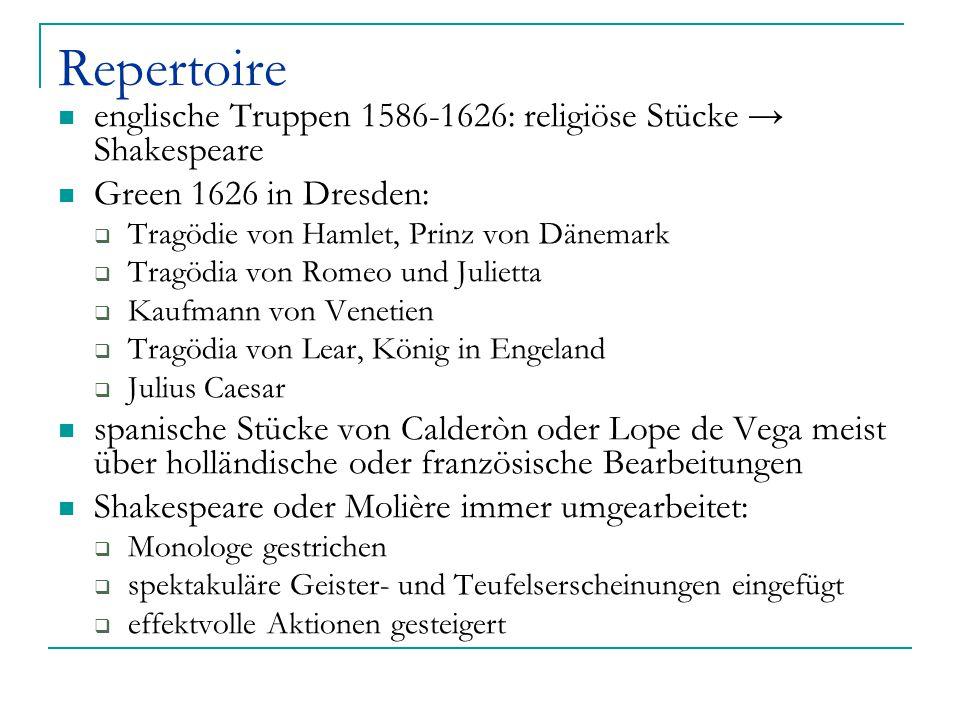 Repertoire englische Truppen 1586-1626: religiöse Stücke → Shakespeare