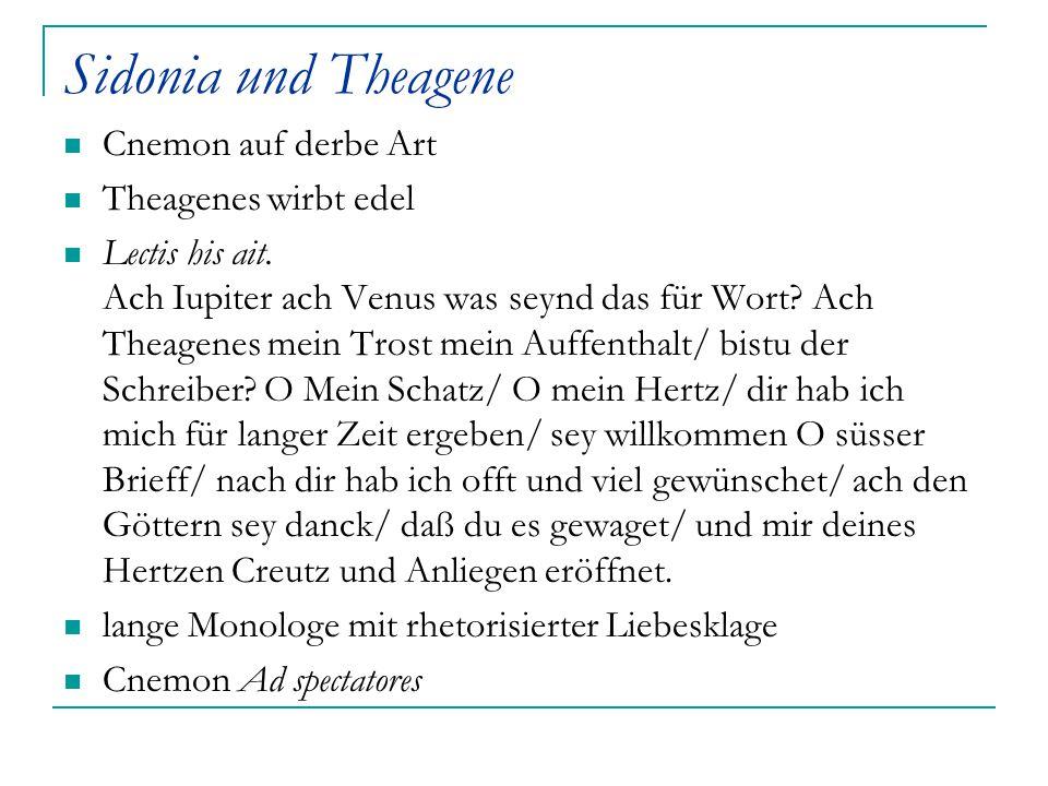 Sidonia und Theagene Cnemon auf derbe Art Theagenes wirbt edel