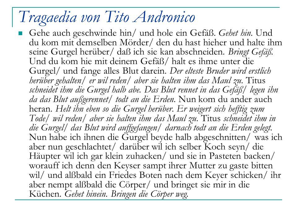 Tragaedia von Tito Andronico