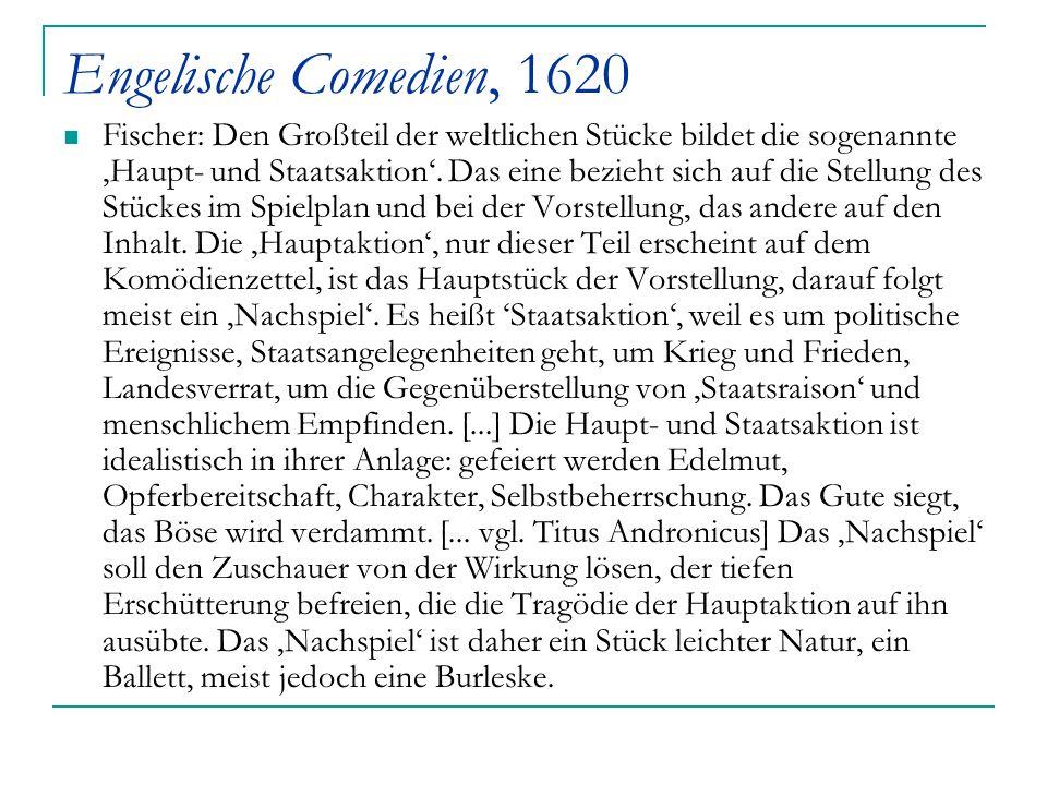 Engelische Comedien, 1620